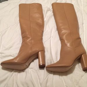Zara camel healed boots size 9